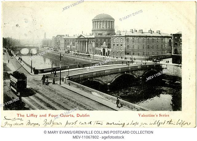 The River Liffey and Four Courts, Dublin, Ireland