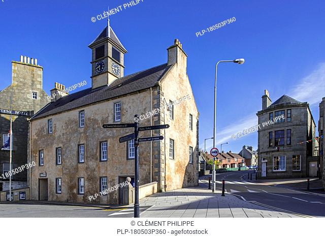 18th century Old Tolbooth / Tollbooth in the city Lerwick, Shetland Islands, Scotland, UK