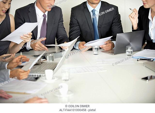 Business associates brainstorming in meeting