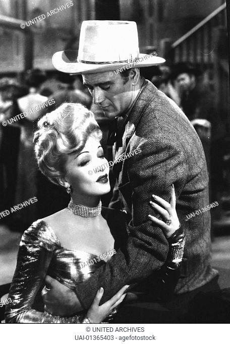 John Wayne, Marlene Dietrich Goldgraeber Roy Glennister (John Wayne) muss um die Rechte an seiner Goldmine vor Gericht kaempfen