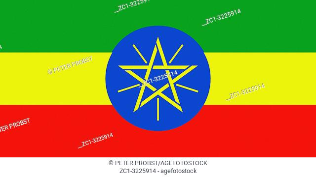 National flag of the Federal Democratic Republic of Ethiopia