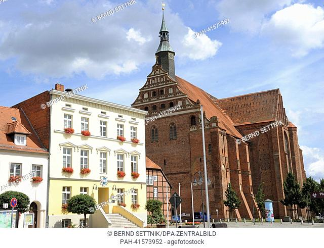 The Wunderblut church St. Nikolai is pictured in Bad Wilsnack, Germany, 31 July 2013. In 2006 the pilgrim's path from Berlin to the church was opened and on 24...