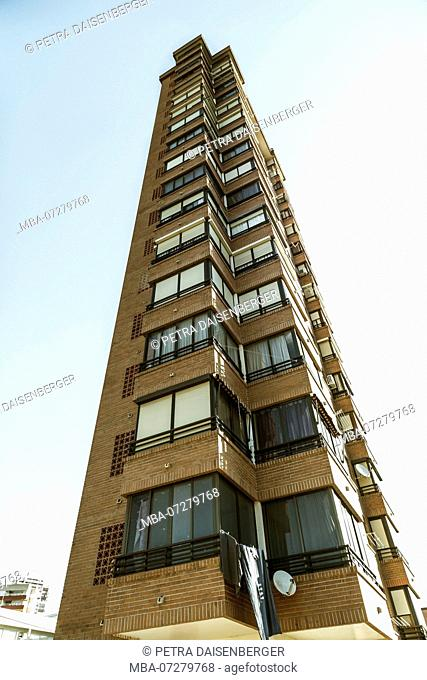 A high-rise in Benidorm, Spain, Europe