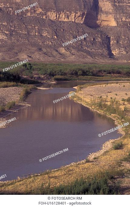 Big Bend National Park, TX, Texas, Rio Grande (river) near Santa Elena Canyon