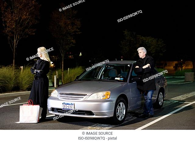 Couple by car