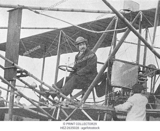 Samuel Franklin Cody, American aviation pioneer, 1913 (1934). Artist: Flight Photo