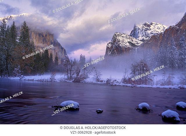 El Capitan Overlooks Fog at Yosemite's Valley View