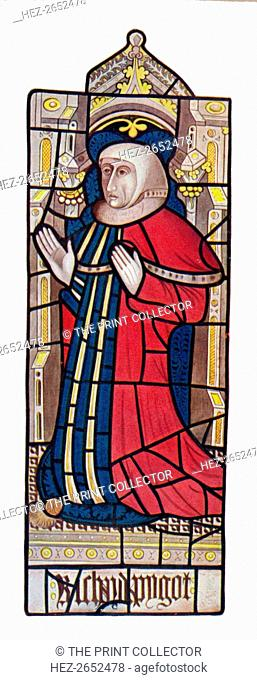 'Serjeants at Law. (Long Melford Church, Suffolk)', 1903. Reproduction of a Medieval stained glass window in the Holy Trinity Church, Long Melford