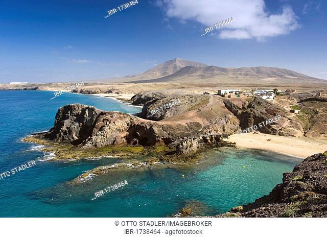 Papagayo Beach near Playa Blanca, Lanzarote, Canary Islands, Spain, Europe