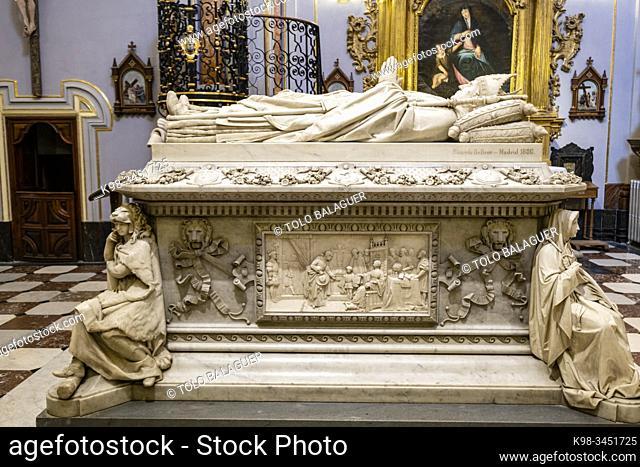 sepulcro del cardenal Silíceo, Real Colegio de Doncellas Nobles, Toledo, Castilla-La Mancha, Spain