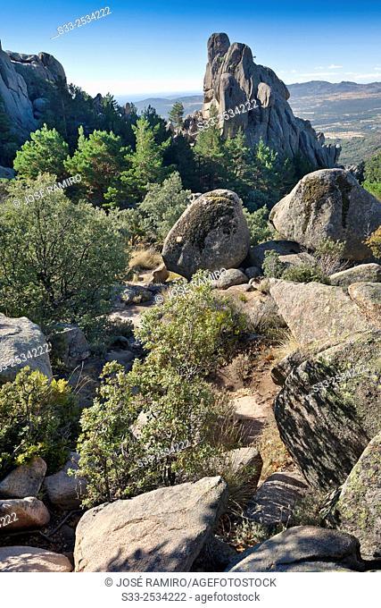 Galisol Cliffs in the Pedriza. Regional Parck. Manzanares el Real. Madrid. Spain. Europe