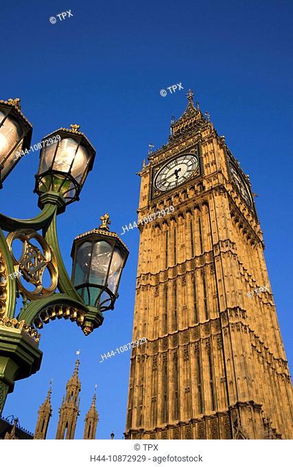 England, London, Palace of Westminster, Big Ben