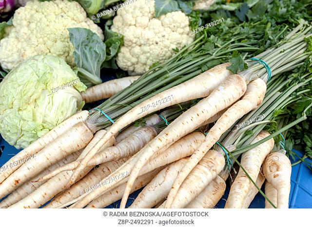 Vegetables market, Teplice, Czech Republic