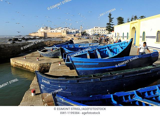 view of the oldtown of Essaouira, Unesco World Heritage Site, Morocco, North Africa