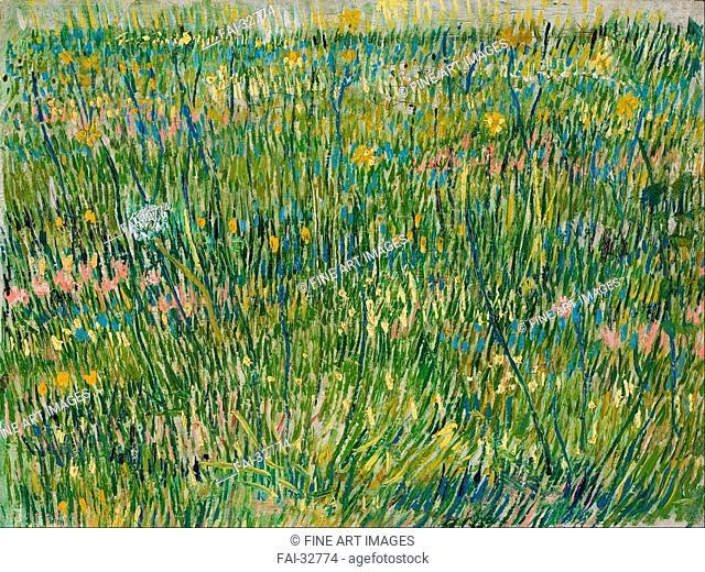 Patch of grass by Gogh, Vincent, van (1853-1890)/Oil on canvas/Postimpressionism/1887/Holland/Kröller-Müller Museum, Otterlo/30x39/Landscape/Painting/Rasenstück...