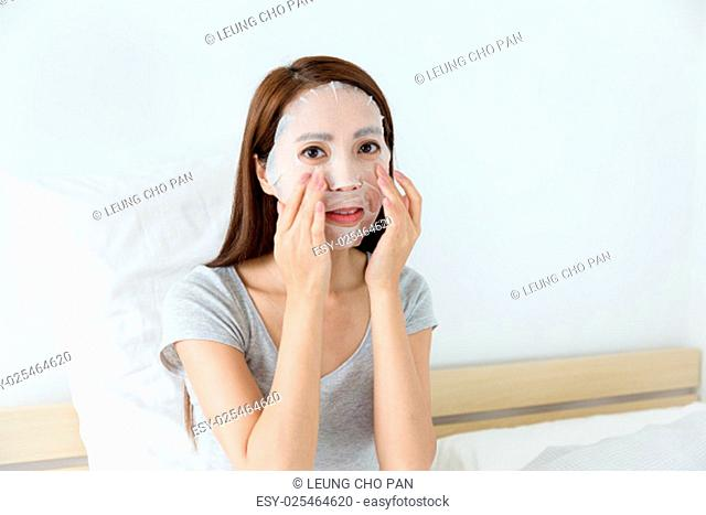 Woman doing masking