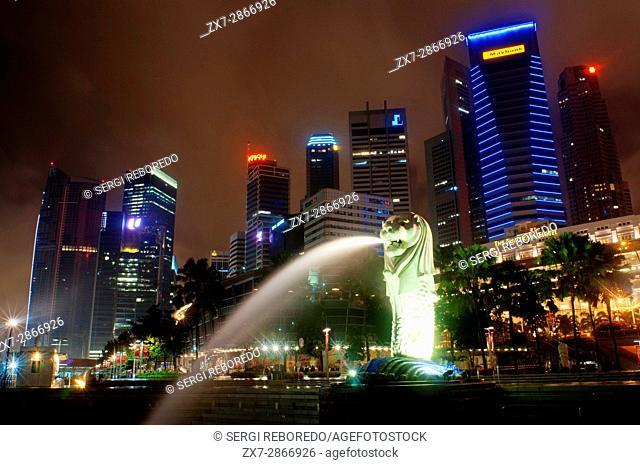 The Merlion Statue, Singapore