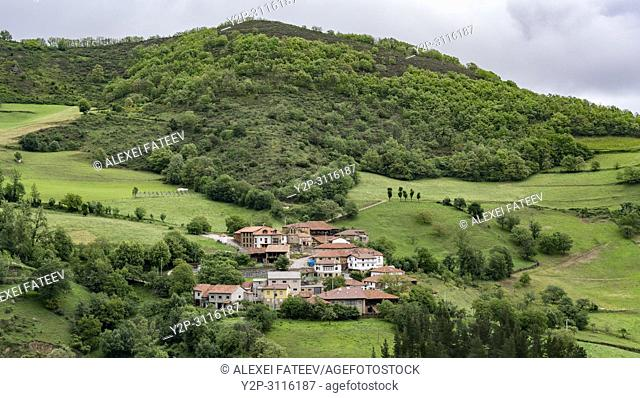Small village in Cantabrian part of Picos de Europa, Spain