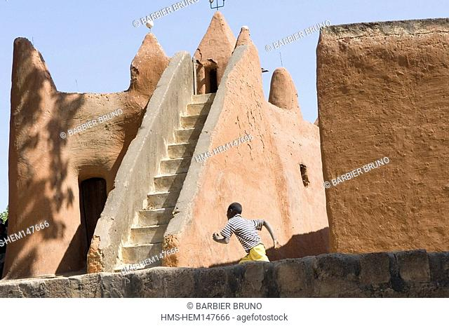 Mali, Sekoro, ancient Segou, first capital of the Bambara Kingdom founded in half of the 18th century, mosque