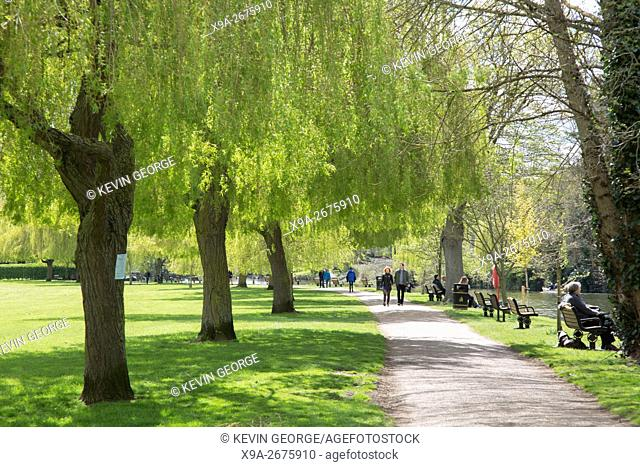 Footpath alongside River Avon; Stratford Upon Avon; England