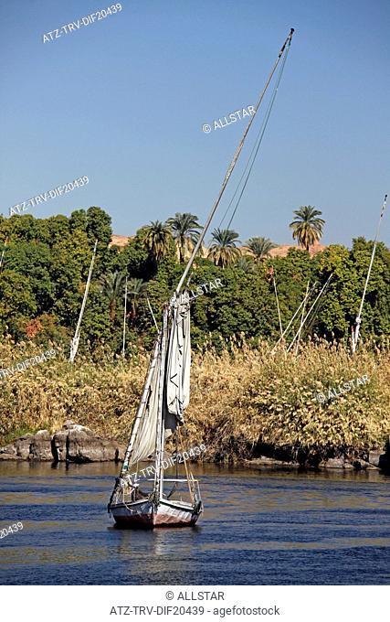 FELUCCA ON RIVER NILE; ASWAN, EGYPT; 11/01/2013