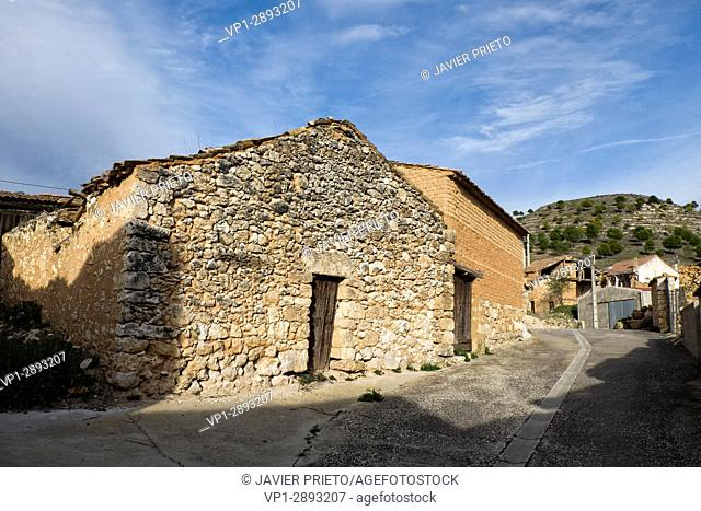 Rustic auxiliary constructions in a small village of the Ribera del Duero. Country Cottage. Valladolid. Ribera del Duero. Spain