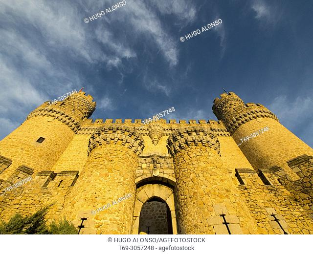 Castle of Manzanares El Real, Madrid province, Spain