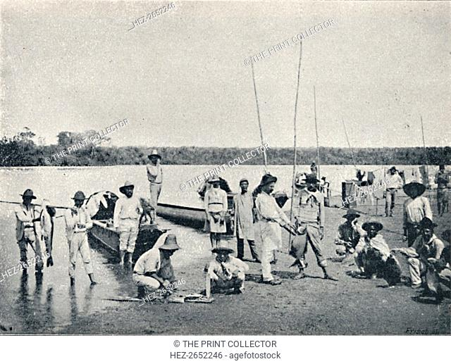 'Pesca no Rio Grande', 1895. From Sao Paulo by Gustavo Koenigswald. [S. Paulo, 1895]