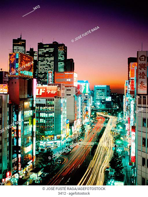 Shinjuku district. Tokyo. Japan