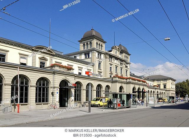 Winterthur - building from the main station - Kanton Zurich, Switzerland, Europe