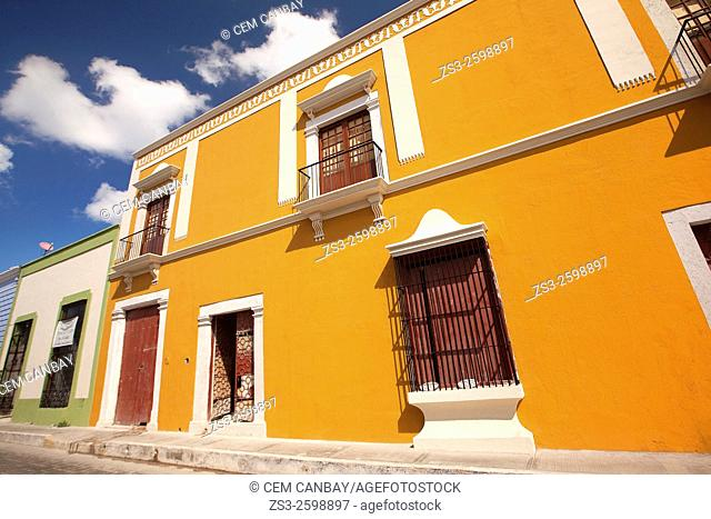Colorful buildings in the historic center of Campeche, Campeche Region, Yucatan, Mexico, Central America