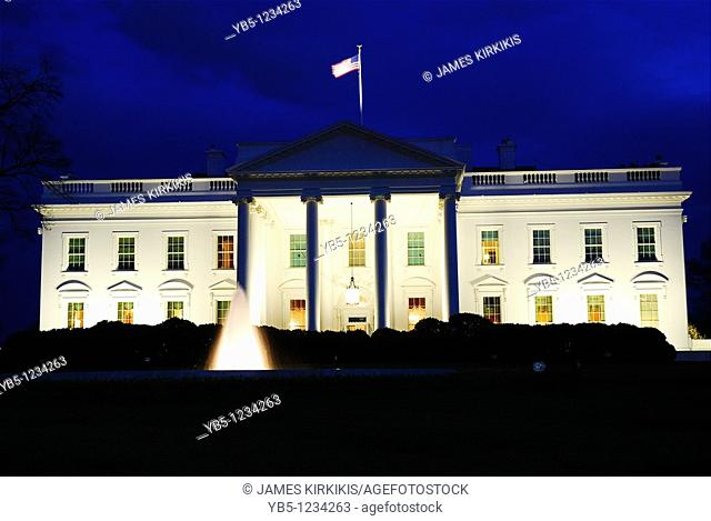 Dusk, White House, Washington, DC