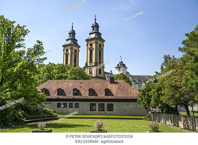 Schlosskirche des Deutschordenschloss, Bad Mergentheim, Main-Tauber-Kreis, Baden-Württemberg, Deutschland   castle church, Deutschordenschloss, Bad Mergentheim
