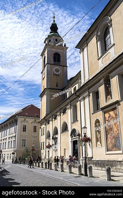 Cathedral, St. Nicholas's Church, Ljubljana, Slovenia