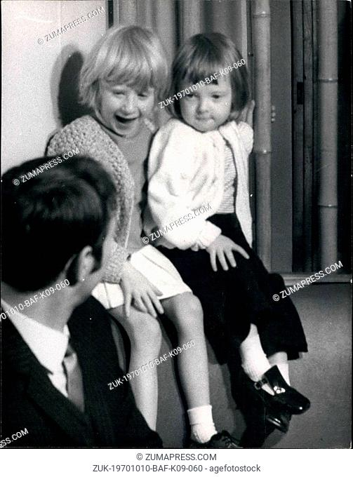 Oct. 10, 1970 - Heart Girl Arrives Home: 5-year old Suzanne Jones, of Tonyrefail, Glamorgan, who underwent a heart operation by Prof
