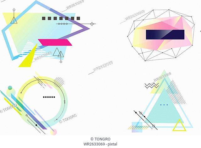 Set of various geometric figures