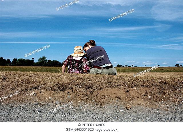 Mother & daughter in conversation at Dartmoor