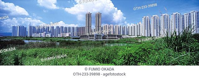 Large housing estate adjacent to the Wetland Park, Tin Shui Wai, Hong Kong