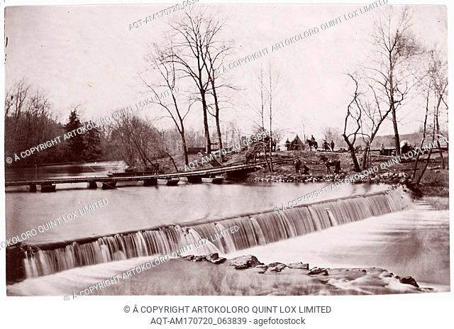 Bull Run. Pontoon Bridge near Blackburn's Ford, 1862, Albumen silver print from glass negative, 13.1 x 20.2 cm (5 3/16 x 7 15/16 in