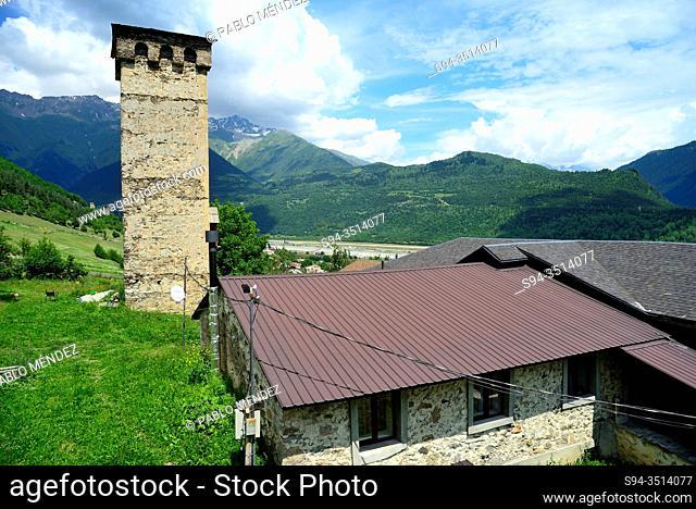 Defensive towers of Mestia, Svaneti, Georgia