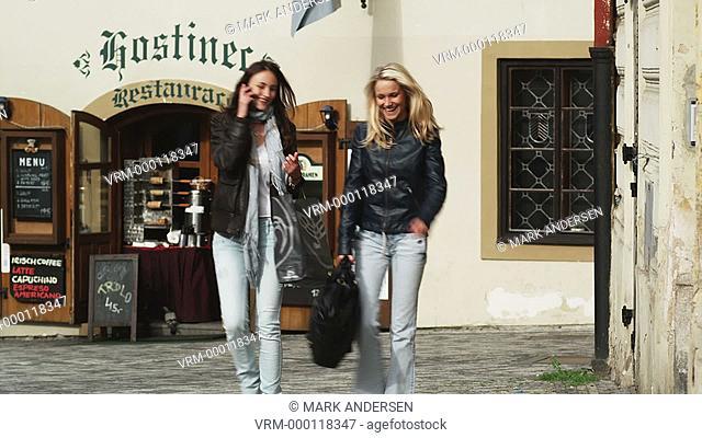 two women on a city street