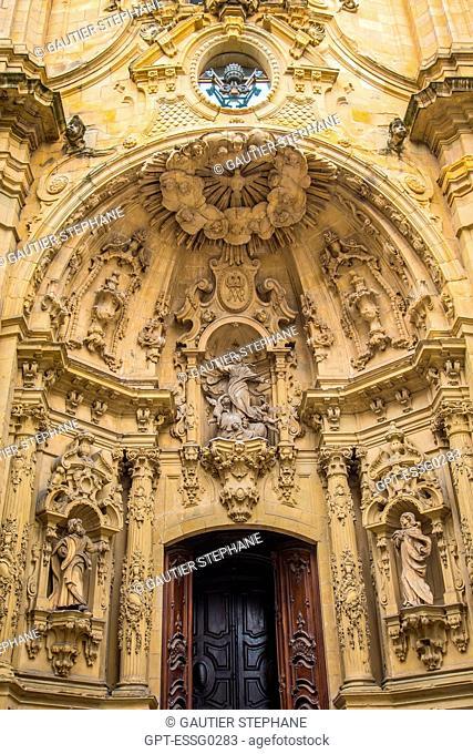 SANTA MARIA BASILICA, OLD TOWN, SAN SEBASTIAN, DONOSTIA, BASQUE COUNTRY, SPAIN