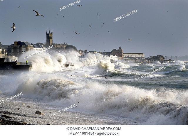 Storm in Penzance - Cornwall - UK