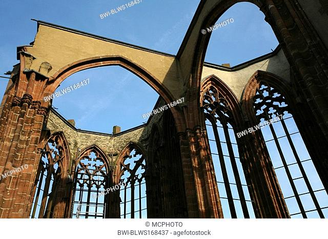 Wernerkapelle at Rhine, Germany, Rhineland-Palatinate, Bacharach am Rhein