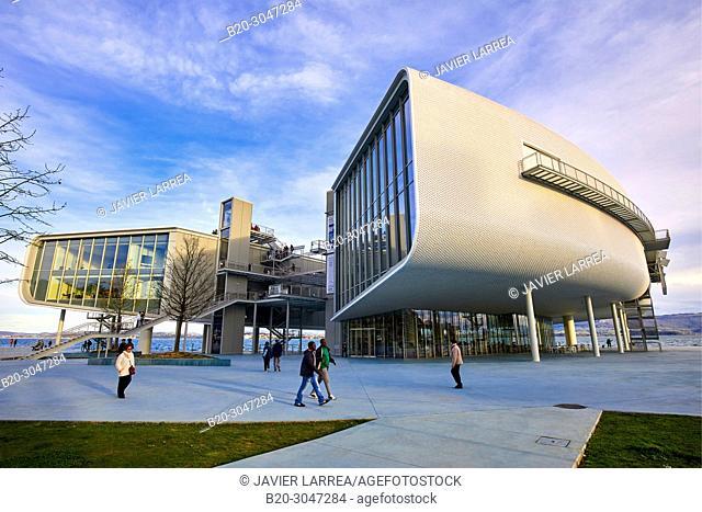 Botin Center Museum Art and Culture, Architect Renzo Piano, Jardines de Pereda, Santander, Cantabria, Spain, Europe