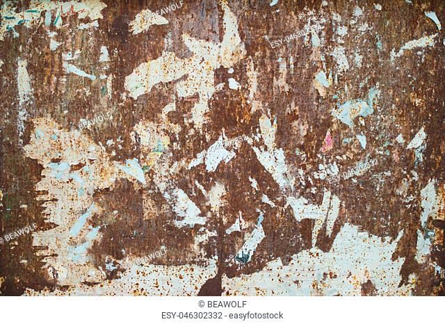 A very old rusted sheet metal background