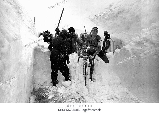 Aldo Moser at Giro d'Italia, Stelvio 1965
