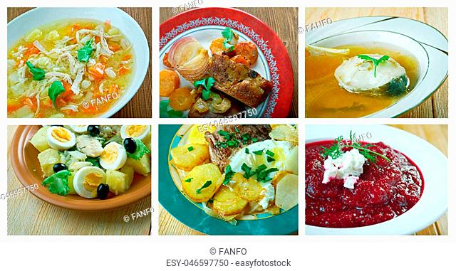 Food set .spanish and Portuguese traditional cuisine.closeup