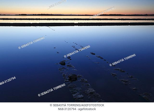 Ses Salines ( Estany Pudent) at dawn, Formentera, Balearic Islands, Spain