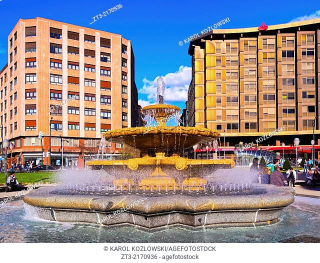 Plaza de Don Federico Moyua - square in Bilbao, Biscay, Basque Country, Spain